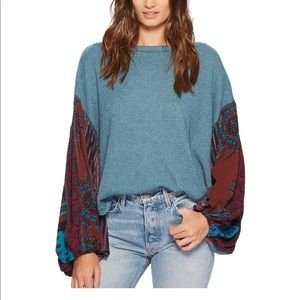 Free People Blossom Thermal Teal XS NWT
